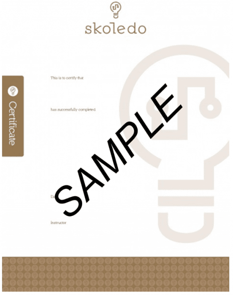 Certificaat sample